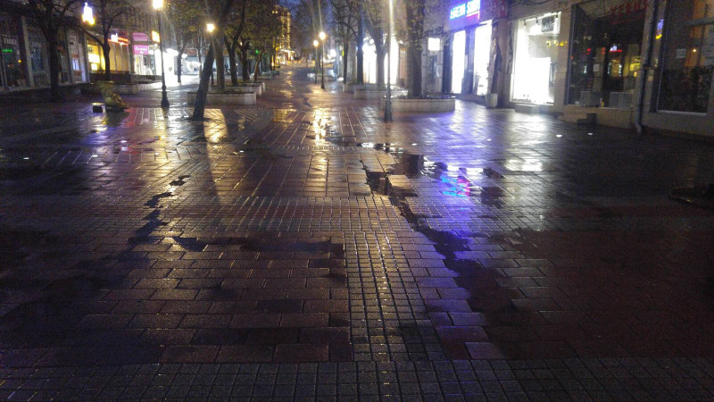 Главната на Пловдив опустя