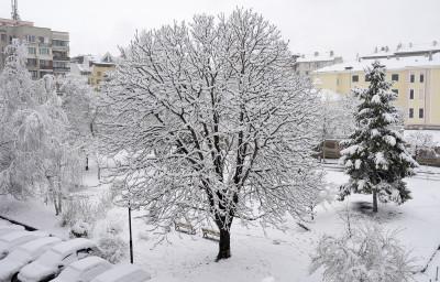 Снежна София през март