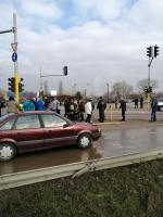 снимка 1 Протест на жителите на село Герман за изграждане на канализация