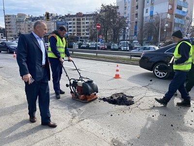 започнаха текущи ремонти основните булеварди софия