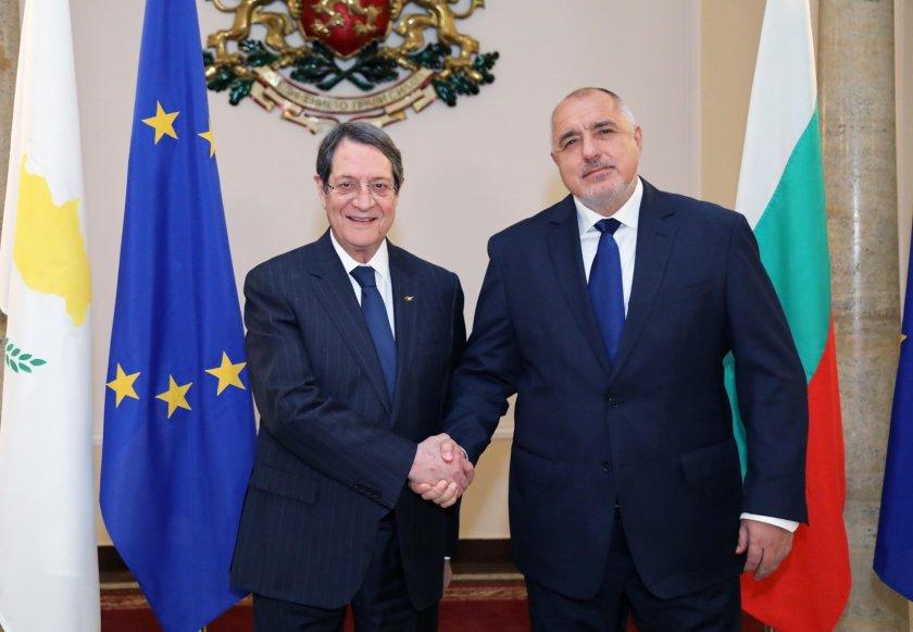 Премиерът Борисов се срещна с президента на Република Кипър Никос Анастасиадис