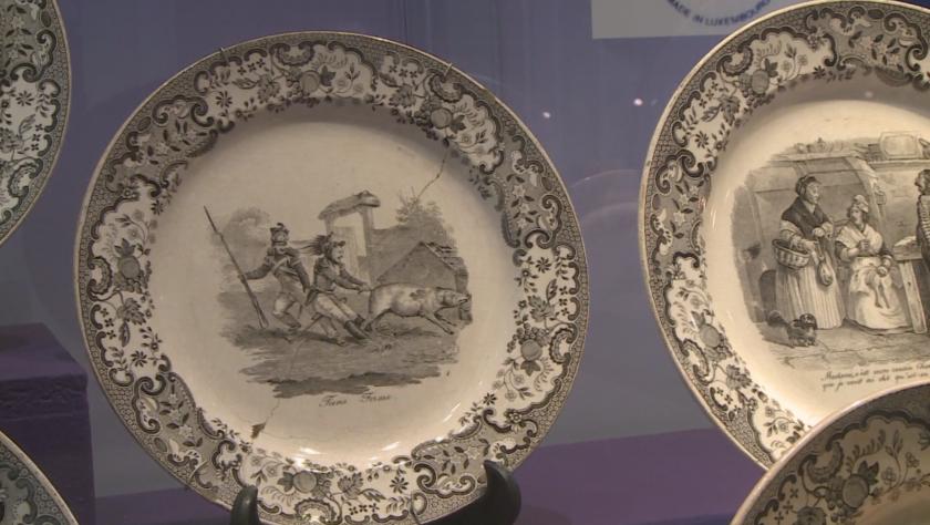 Порцеланови чинии показват историята на Великото херцогство Люксембург