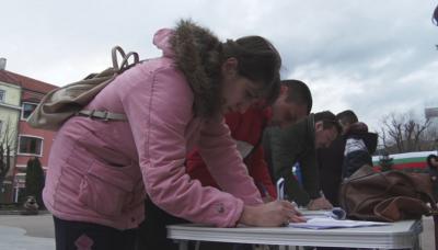 Протест и подписка срещу замърсяването на въздуха в Сливен