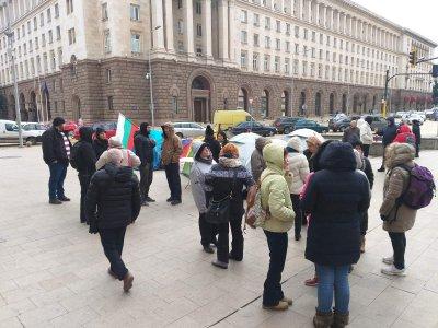 Протест на медицински сестри и майки на деца с увреждания