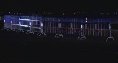 Пропускателен пункт и метални ограждения на изходите на София