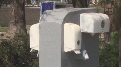 Поставиха мобилни чешми за дезинфекция на ръцете във Варна