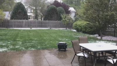 Сняг заваля през май в САЩ