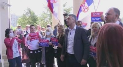 Сблъсъци пред парламента в Сърбия