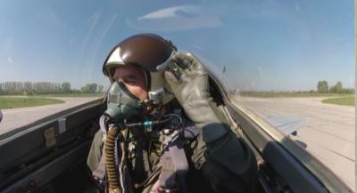 Демонстрация по евакуиране на катапултирал пилот ще...
