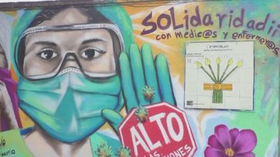 Графити в Мексико почитат медиците