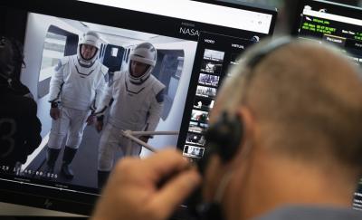Астронавтите от мисията на SpaceX до Международната космическа станция с последни репетиции