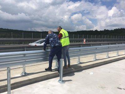 """Премиерът инспектира ремонта на виадукта на 20-и км на АМ """"Тракия"""""""