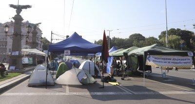 Осуетен е опит за провокация при палатковия лагер на Орлов мост