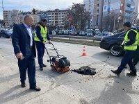 Започнаха текущи ремонти по основните булеварди в София