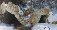 Рухна конструкцията на входа на пещерата Леденика