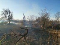 снимка 2 Сухи треви горят в района на Гребната база в Пловдив