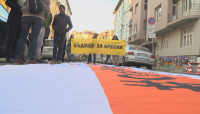 """Граждани протестираха срещу строежа на АМ """"Струма"""" през Кресненското дефиле"""