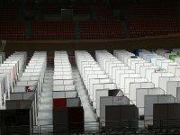 """Завърши изграждането на полевата болница в спортна зала """"Колодрума"""" в Пловдив"""