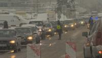 Внушителна колона от автомобили на входа за София от Драгичево