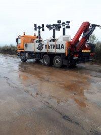 """снимка 2 Дезинфекцират участък от АМ """"Марица"""" преди границата с Турция"""