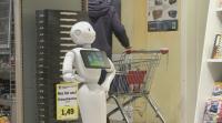Робот буди усмивки в хранителен магазин в Германия