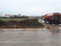 """снимка 1 Дезинфекцират участък от АМ """"Марица"""" преди границата с Турция"""