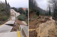 Пороите разрушиха пътища на Атон, град Карея е откъснат